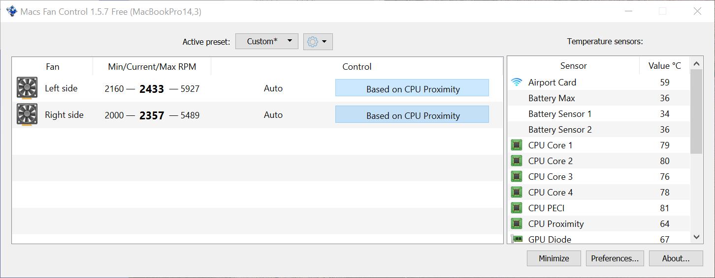 Mac Fans Control Application