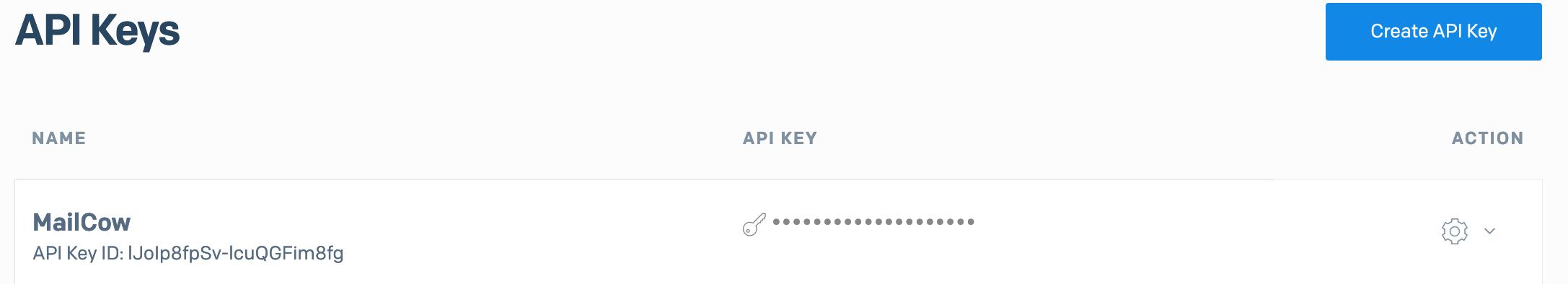 SendGrid - API Keys